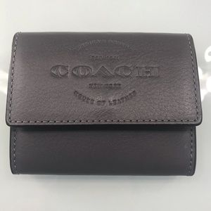 Coach Gray Unisex Coin/Card holder wallet